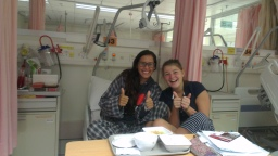 Green-blue Flannels and an unexpected stay in the hospital