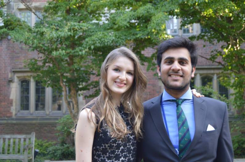 Pauline (Luxembourg) and Farjad (Pakistan)