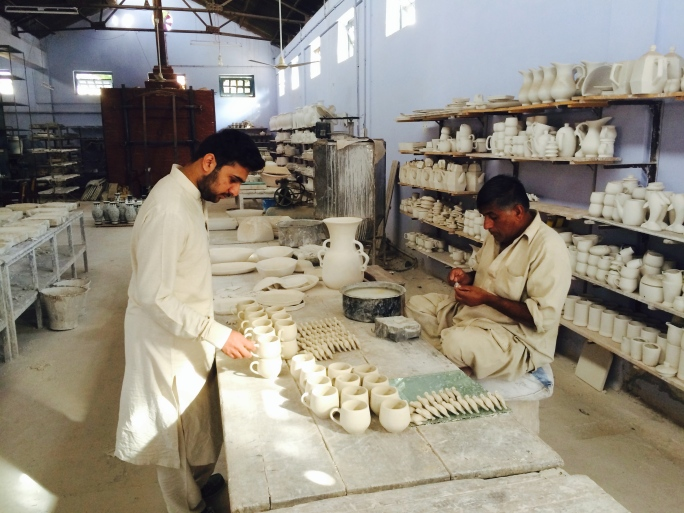 With the pottery master