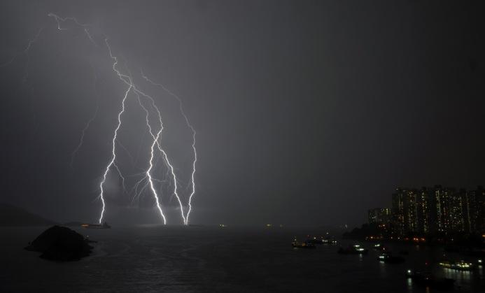 Hong Kong lightning